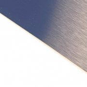 Brushed (Satin) Laminate Blue Surface, White Base