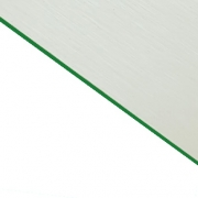Brushed (Satin) Laminate White Surface, Green Base
