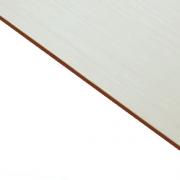 Brushed (Satin) Laminate White Surface, Red Base