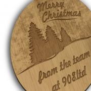 Oak Plywood Laser Engraved