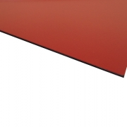 Micro Laminate Matt Red Surface, Black Base
