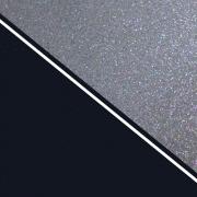 Perspex Duo Sparkling Silver Acrylic