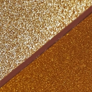 Glitter Acrylic, Sparkling Gold & Orange