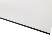 Micro Laminate Matt White Surface, Black Base