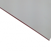 External Laminate Matt White Surface, Red base 0.7mm