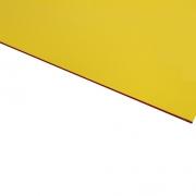 Micro Laminate Matt Yellow Surface, Red Base