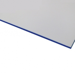 Micro Laminate Matt White Surface, Blue Base