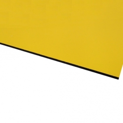 Micro Laminate Matt Yellow Surface, Black Base